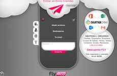 Flyred: permite enviar y compartir archivos pesados gratis y rápido de hasta 5 Gb.