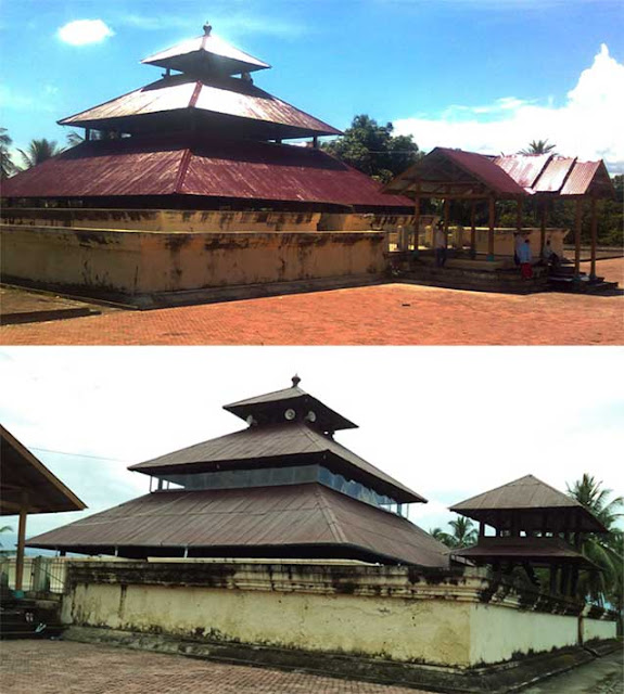 Mosque in Aceh that is shaped like a multi level pyramid