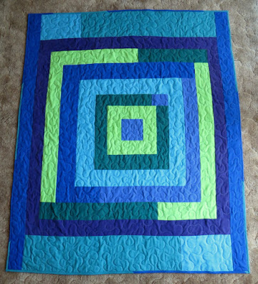 The Way I Sew It: Housetop style quilt from repurposed scrubs