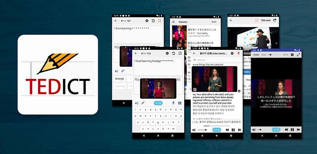تنزيل برنامج  TEDICT الكامل 6.9 - الإملاء باللغة الإنجليزية  التحدث  الاستماع - برنامج تحسين اللغة الإنجليزية لنظام الاندرويد
