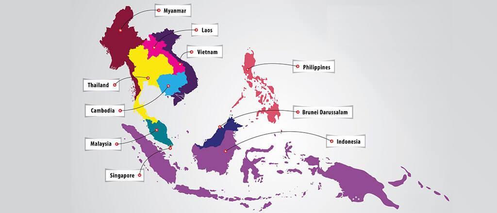 peta negara-negara anggota asean