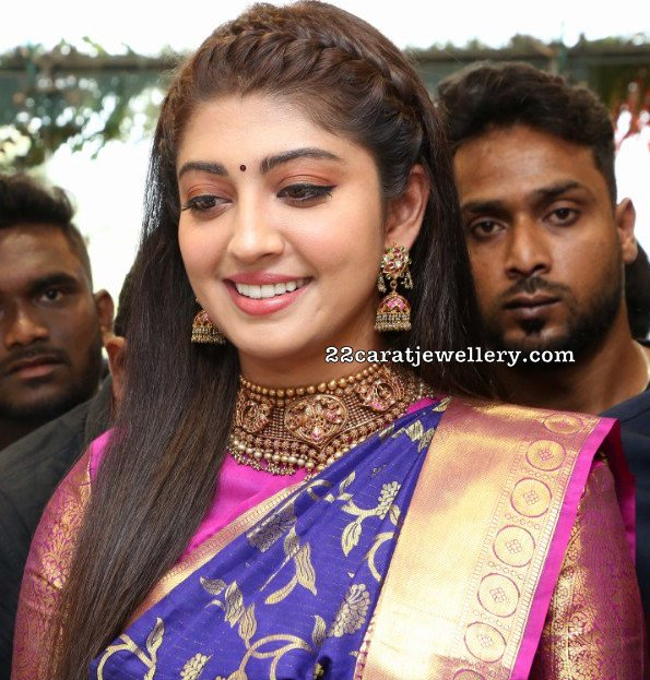 Pranitha Antique Choker with Jhumkas