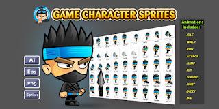 كود سورس Ninja Game Character v1.0