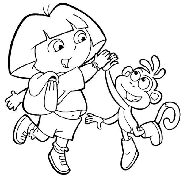 Buku Belajar Mewarnai Gambar Dora The Explorer Untuk Anak