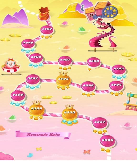 Candy Crush Saga level 8586-8600