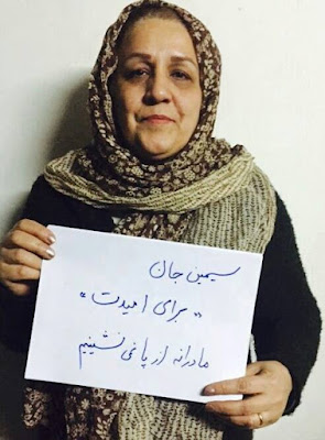Sholeh Pakravan (mother of executed interior designer Reyhaneh Jabbari)