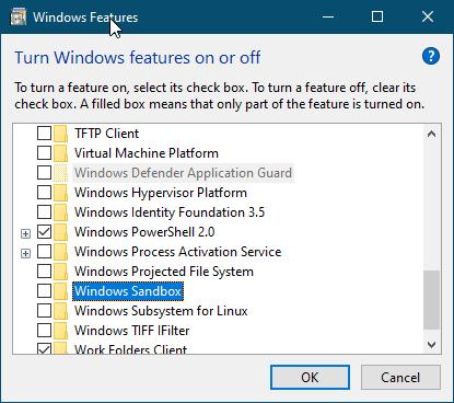 Cara Mengaktifkan Windows Sandbox di Windows 10 1903