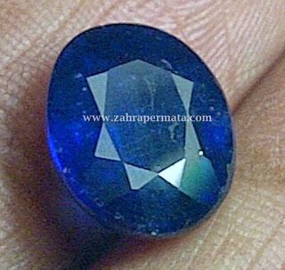Batu Permata Royal Blue Safir + Memo - ZP 331