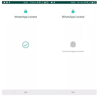 Whatsapp for android  || Fitur whatsapp fingerprint lock untuk Android