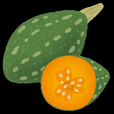 万次郎かぼちゃのイラスト