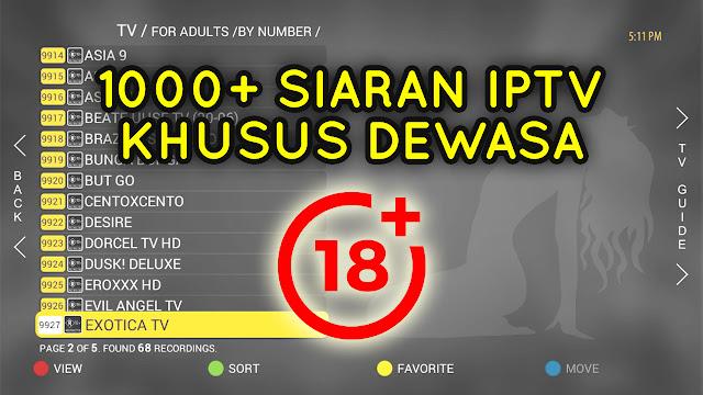 Download Kode M3U IPTV Dewasa Gratis September 2020
