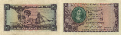 Sudáfrica: Billete de 20 rand