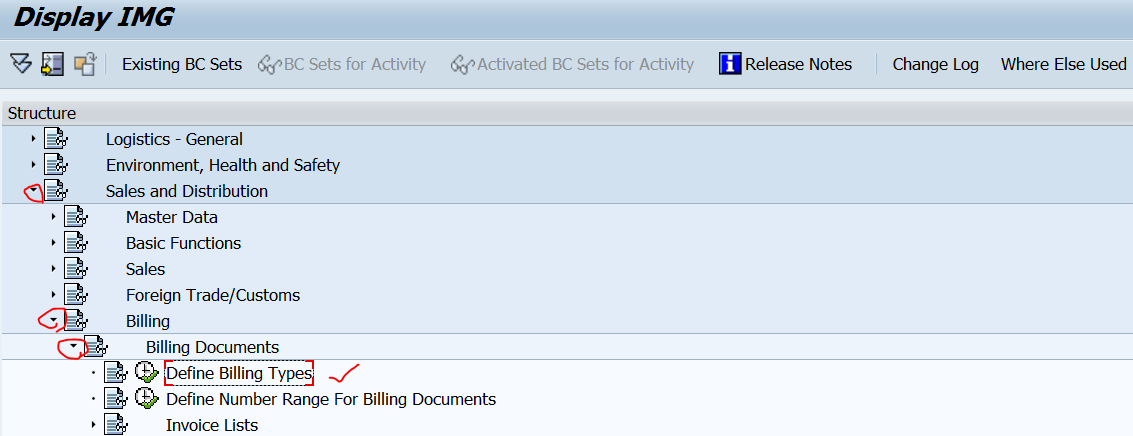 TECHSAP : Creating a new Billing output type and assigning it to the