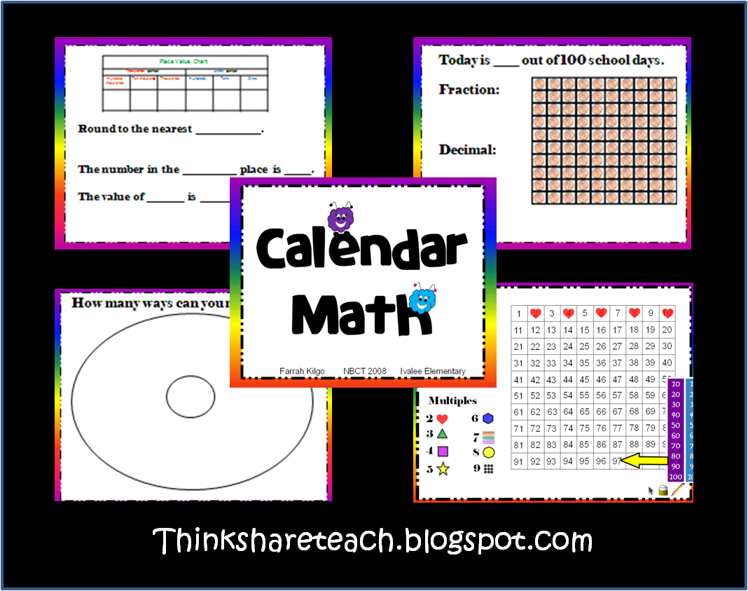 Think Share Teach Calendar Math Routine Freebies