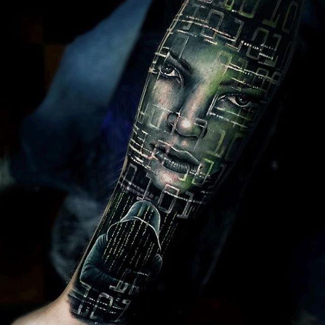 24 Gambar Tattoo 3D Keren Komputer, Mulai Dari Monitor, CPU, Memory Prosesor