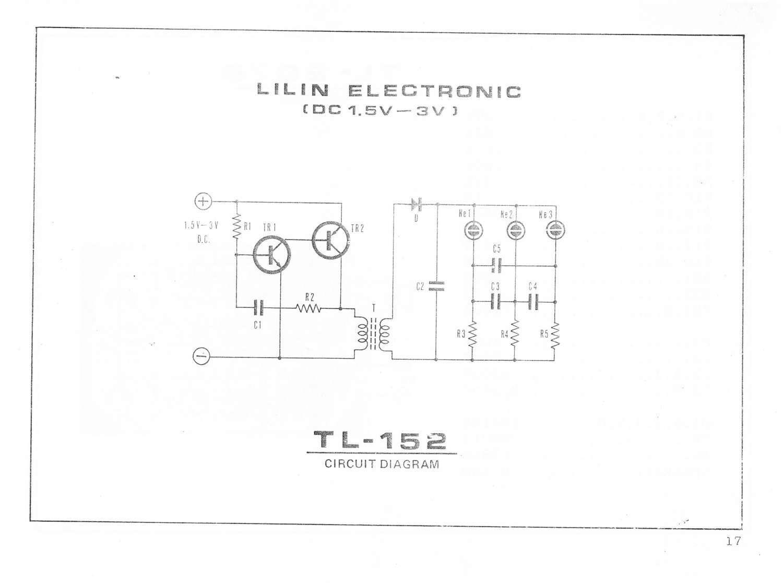 Skema Lilin Elektronik Dc 1 5 Volt Tl 152