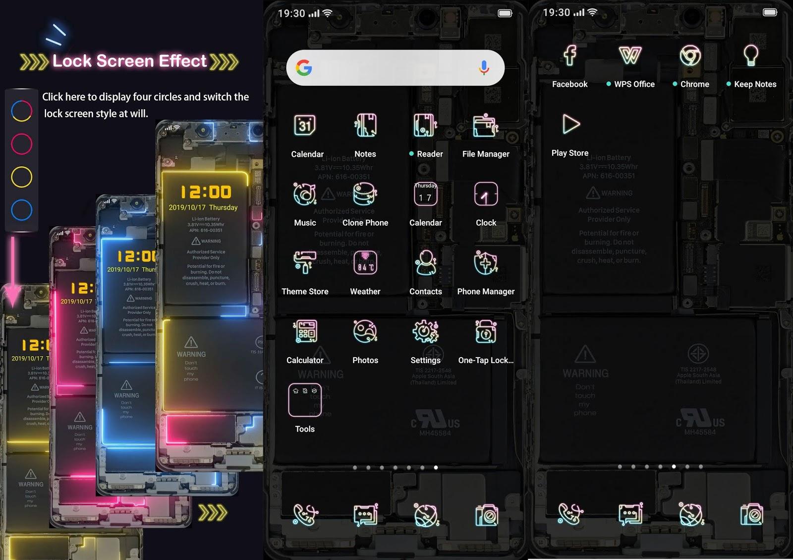 Themes Galaxy Neon Premium for OPPO & Realme