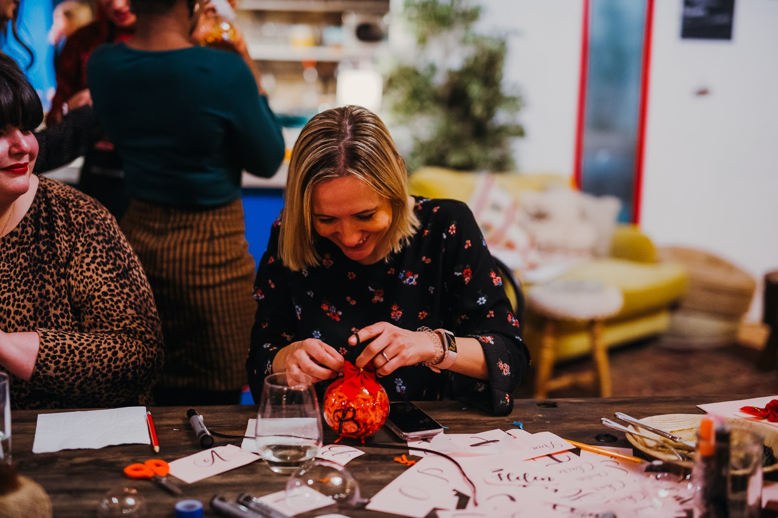 Me making my bauble at the Christmas craft Viking in a post about spreading the Christmas craft cheer with Viking