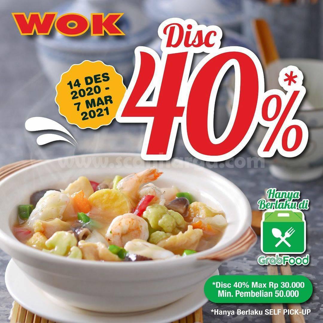 Promo WOK Restaurant DISKON 40% khusus pesan via GRABFOOD