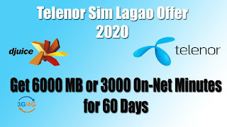 Telenor Sim Lagao Offer 2020