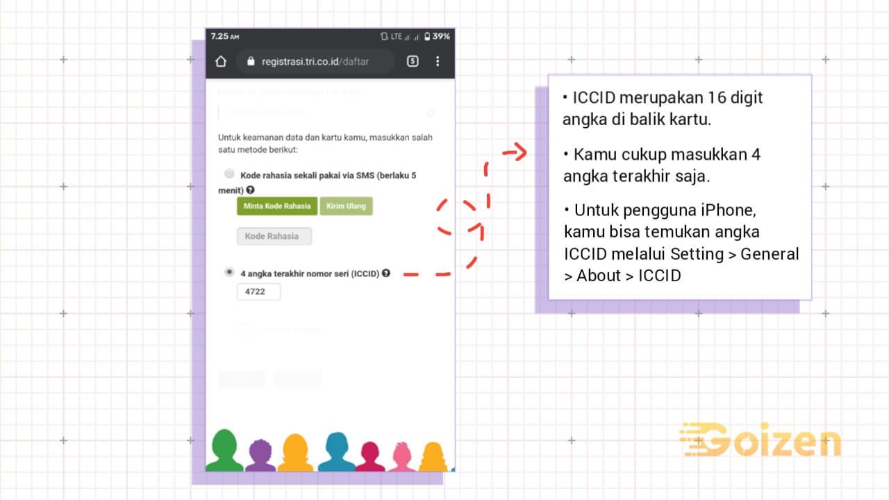 Cara Registrasi Ulang Kartu Tri Melalui SMS