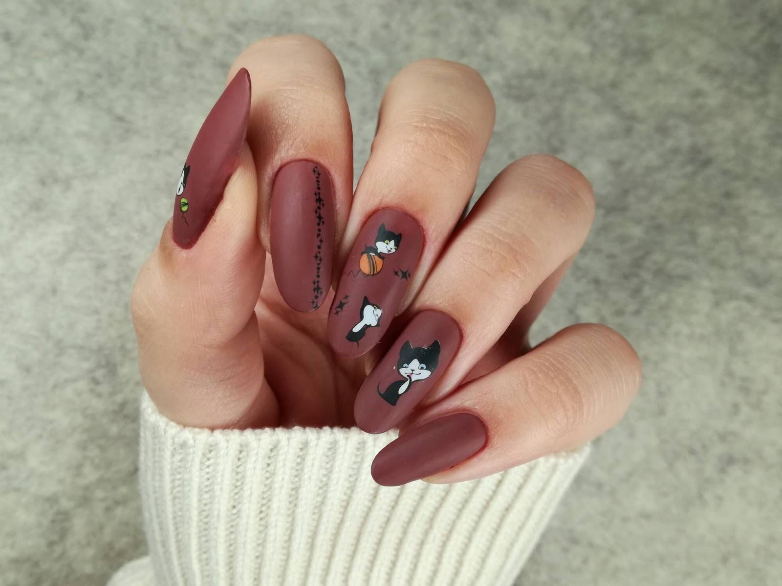 paznokcie - koty - naklejki