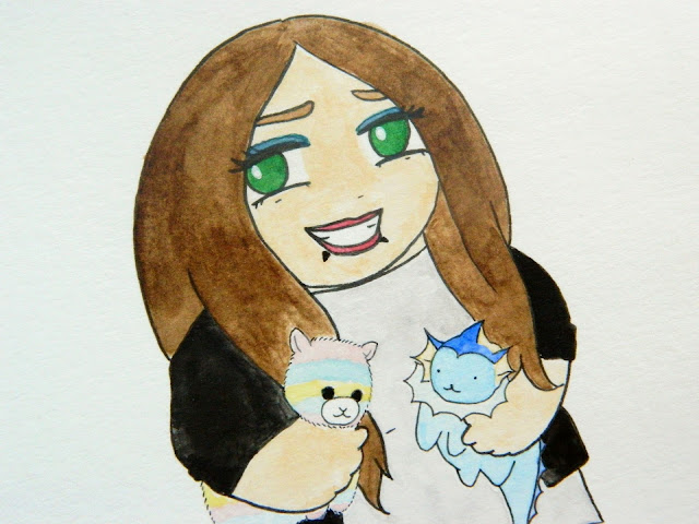 A custom chibi portrait by Claire Likes To Doodle