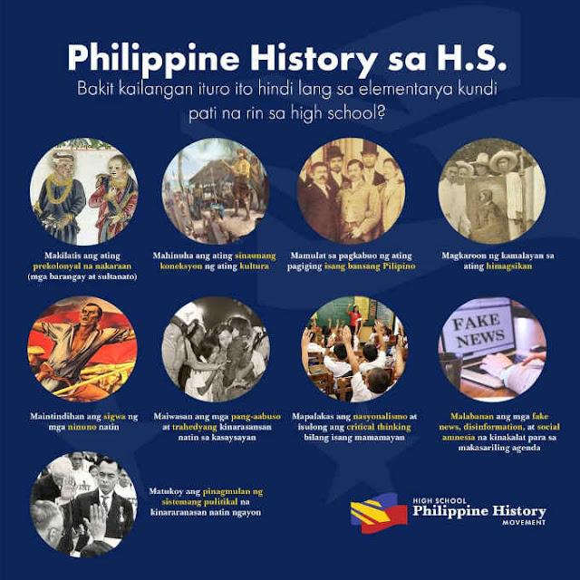 philippine history sa high school