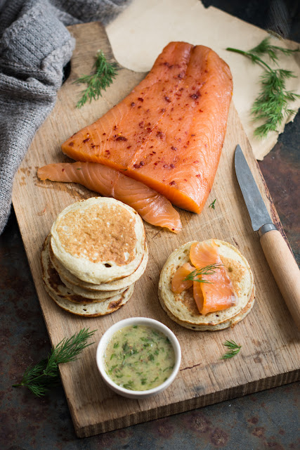 Blinis au sarrasin et saumon gravelax