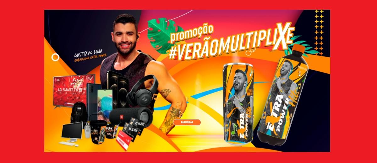 Participar Promoção Extra Power Verão 2021 Multiplixe - Cadastrar, Prêmios e Ganhadores - Gusttavo Lima