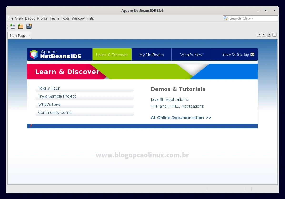 Apache NetBeans executando no Debian 11 Bullseye