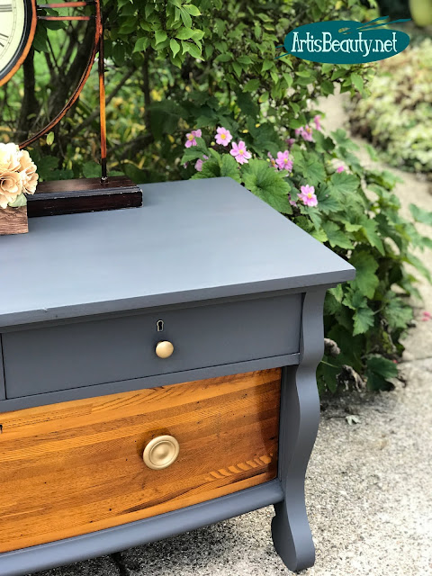 general finishes queenstown gray empire style buffet painted makeover