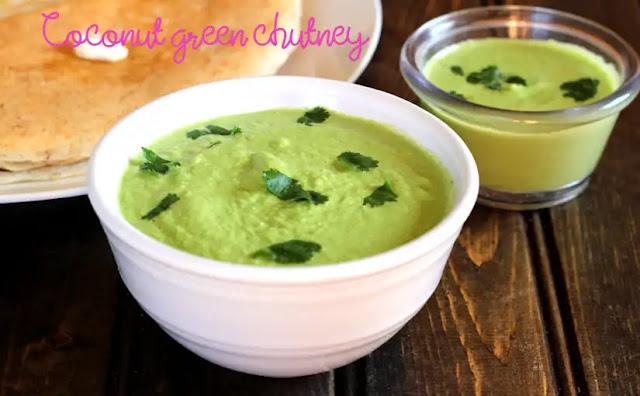 Coconut green chutney | How to make green coconut chutney