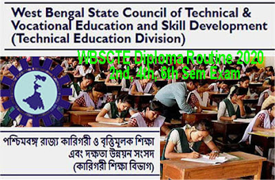 WBSCTE Diploma Routine 2020 2nd/4th/6th Odd Sem Exam