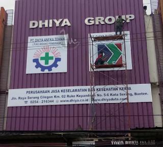 Huruf timbul Stainless Steel & Billboard DHIYA GROUP Serang Banten