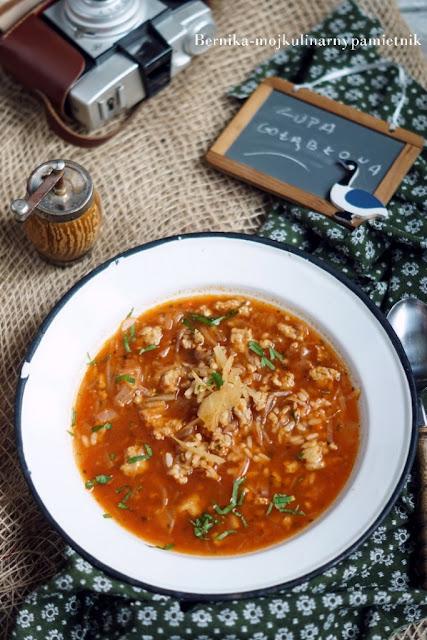 zupa, golabki, obiad, kapusta, ryz, bernika, kulinarny pamietnik, golabkowa