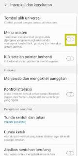Aktifkan asisten menu Samsung m11