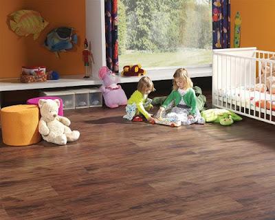 Lựa chọn sàn gỗ tự nhiên phù hợp cho phòng bé yêu