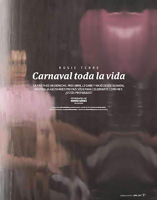 FOTOS: Rosie Terre Playboy Mexico Abril 2017