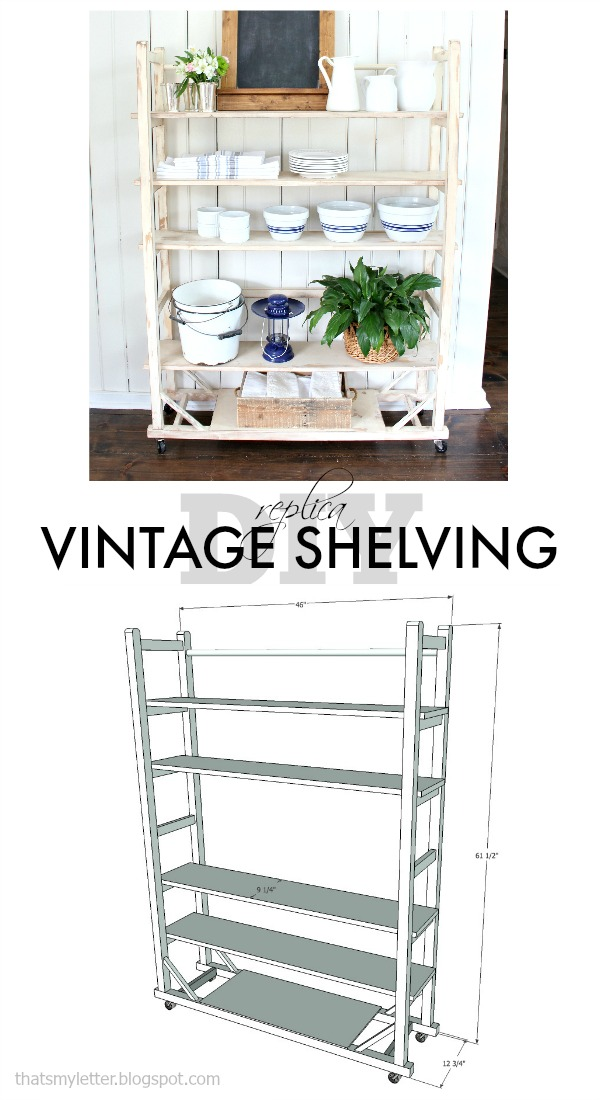 DIY replica vintage shelving free plans