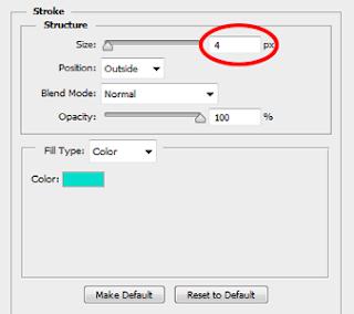 cara membuat stroke pada tulisan di photoshop