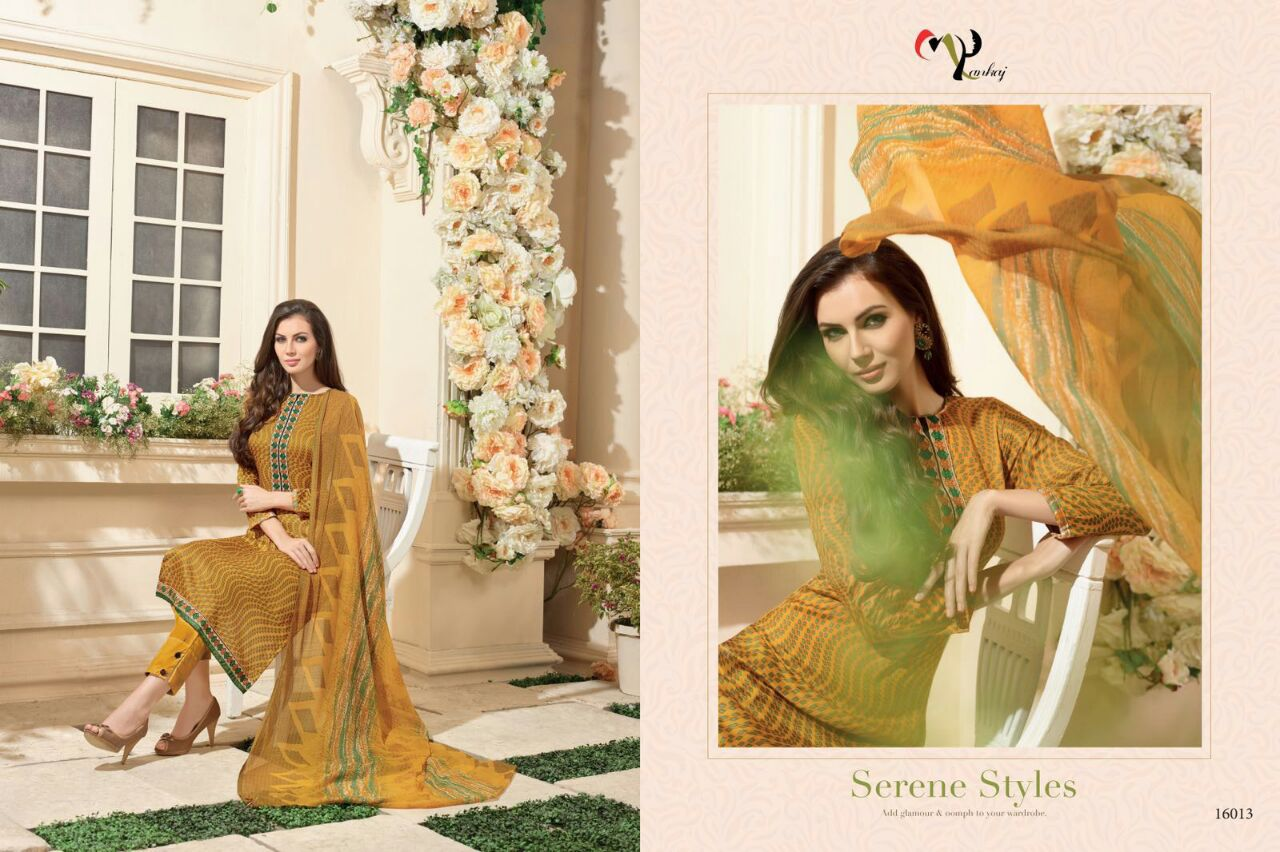 ORTIZA—Designer Lawn cotton with embroidery Dress Material