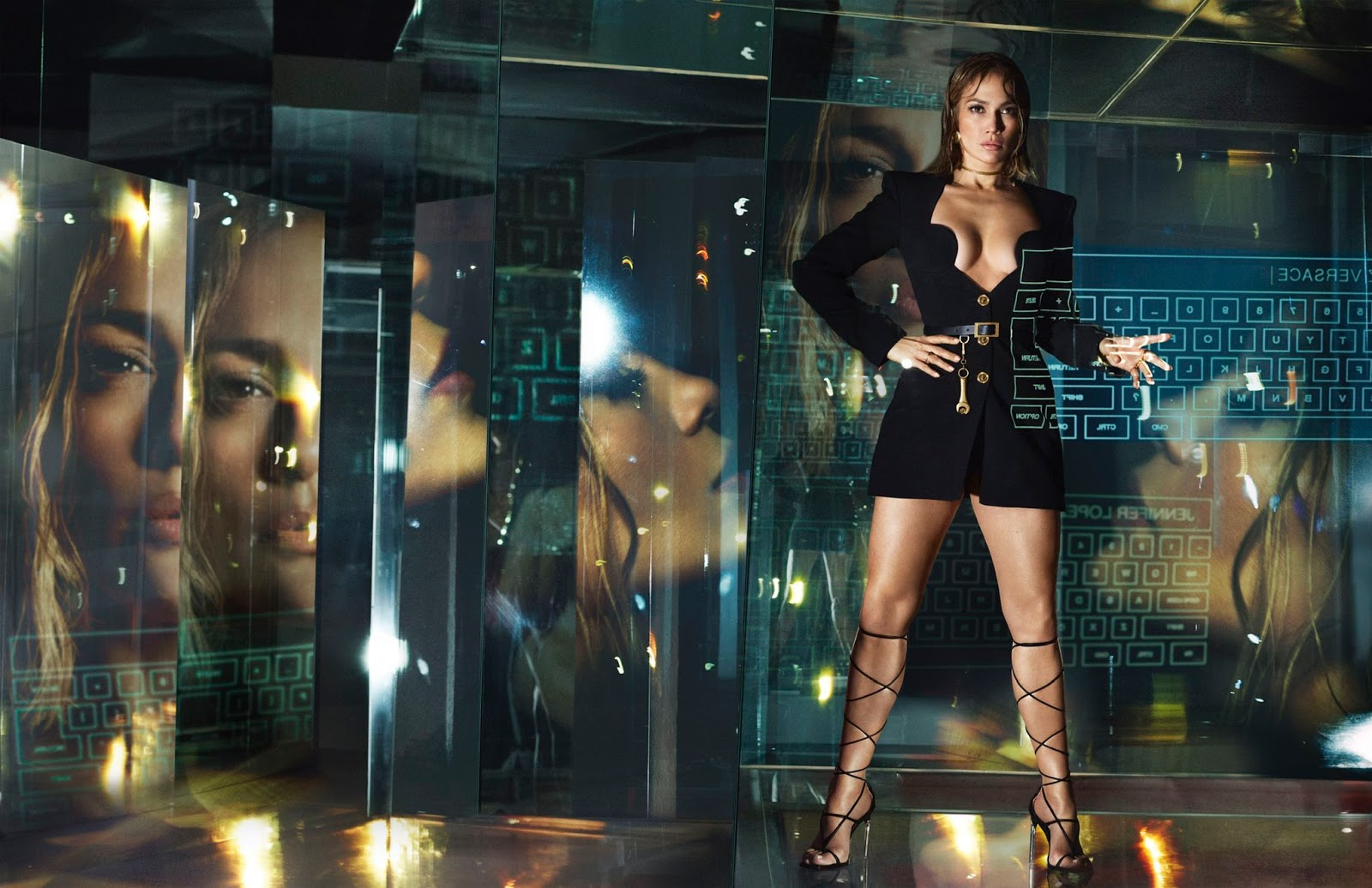 Jennifer Lopez For Versace 2020 Campaign