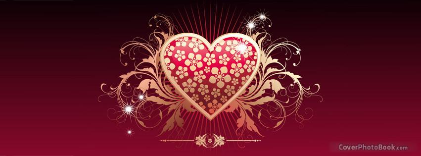 Golden Hearts Facebook Cover – Fondos de Pantalla