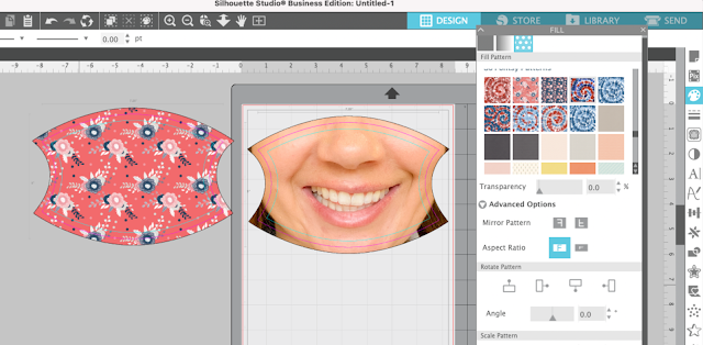 sublimation, silhouette and sublimation, face masks, digital patterns, fill shape