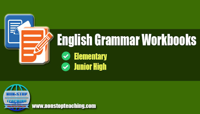 Printable English Grammar Workbooks for Elementary and Junior High