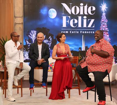 Salgadinho, Chrigor, e Péricles fazem a festa no palco - Leandro Teixeira/Band
