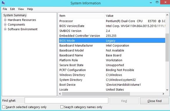 Cara Mudah Mengetahui Versi Bios Komputer/Laptop Legacy Atau UEFI