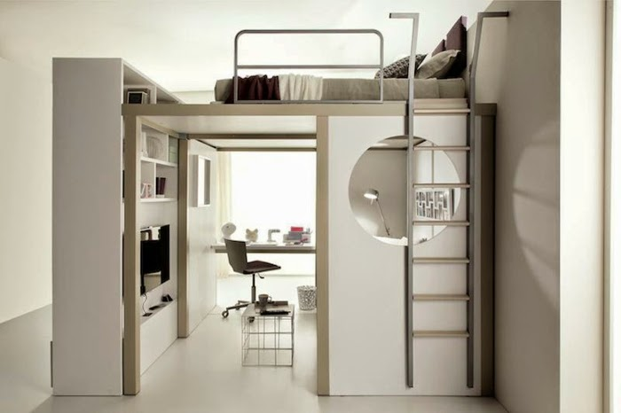 Loft Bed With Desk For Children And Adults Bedroom Design
