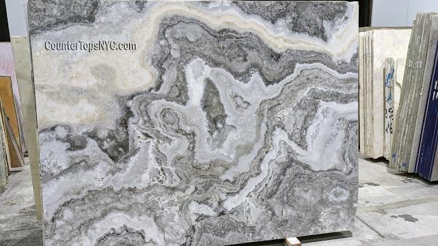 Silver Polished Onyx Slab NYC